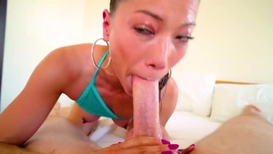 Ramming hard with large tits asian pornstar Lily Ocean