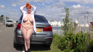 Naked dutch babe got nailed in public