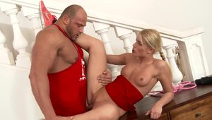 Fitness sex scene with glamour art Sweet Cat