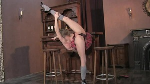 Acrobatic gets plowed in the bar