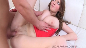 Large tits Lucie Wilde and Busty Buffy gangbang sex tape