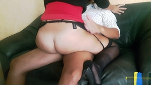 Good fucking alongside big butt amateur
