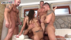 Nailing together with inked stepmom Mea Melone