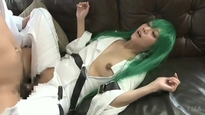 Asian desires cosplay pussy fucking in HD