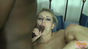 Stepmom Natasha Starr gets a buzz out of hard nailining in HD