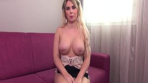 Charming french babe pussy fucking at casting