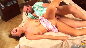 Large tits brunette ramming hard in HD