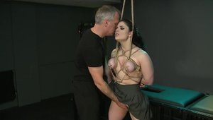 Fucking in company with large tits brunette Lucia Love
