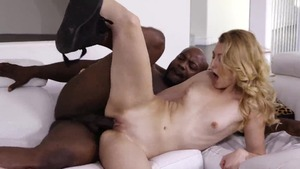 Super sexy fucking with big black cock stepfather