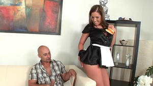French maid Susanna White goes wild on cock