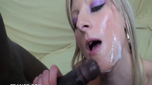 Sweet blonde haired experience handjob