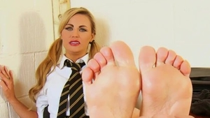 Naughty british amateur roleplay on the office desk