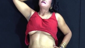 Huge tits asian girl striptease