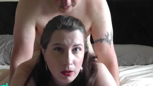 Chubby amateur caught handjob creampied HD