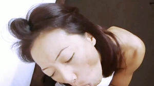 Nude asian stepmom have sex for money in office
