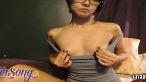 Petite babe has a soft spot for rough nailing