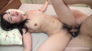 Hairy japanese brunette receives uncensored good fucking HD