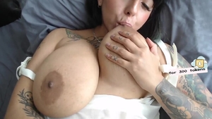 Large boobs amateur has a soft spot for rough fucking