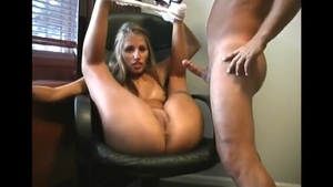 Big boobs amateur homemade handjob cumshot in HD