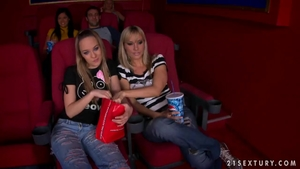 Young & super sexy Blue Angel pussy fucking in the cinema