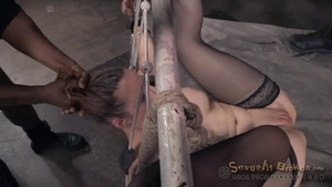 Shaved hotwife Cali Cruz lusts tied up HD