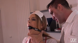 Candy Alexa in lingerie hardcore BDSM in the clinic