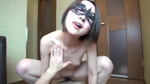 Pretty hairy japanese brunette POV sex with toys HD