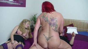 Aged female have sex for money at the casting