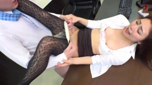 Hard slamming along with erotic japanese MILF