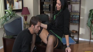 Big ass and beautiful India Summer cumshot in office