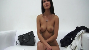 Petite babe toys ass licking at the casting HD
