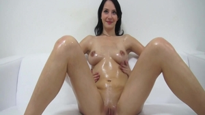 Sweet brunette czech orgasm at castings solo