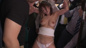 Japanese in tight stockings group sex in public