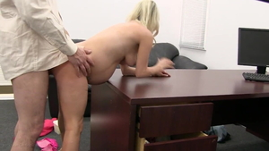 Pregnant stepmom lactating at the audition