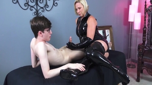 Very sexy mistress craving masturbating wearing latex