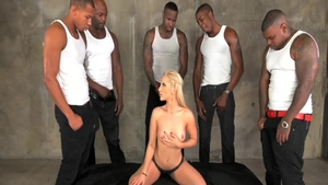 Hard slamming with incredible blonde babe Ashley Fires