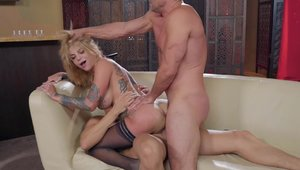 Brazzers Network: Bonnie Rotten and Toni Ribas anal double