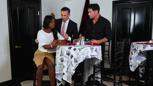 Ebony supermodel Ana Foxxx double penetration