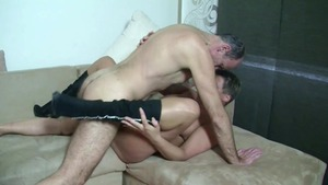 Aged MILF goes wild on cock