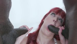 Hard nailining in company with petite redhead Andi Rye