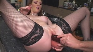 Curly haired dutch slut Audrey Hollander desires fisting