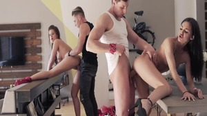 Group sex scene together with wild POV Little Caprice