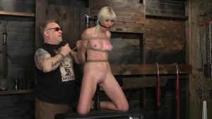 Blonde hair Marie Mccray wishes for bondage