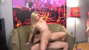 Shaved and very hot Ashley Fires threesome