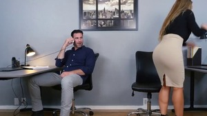 Big ass Nicole Aniston in office
